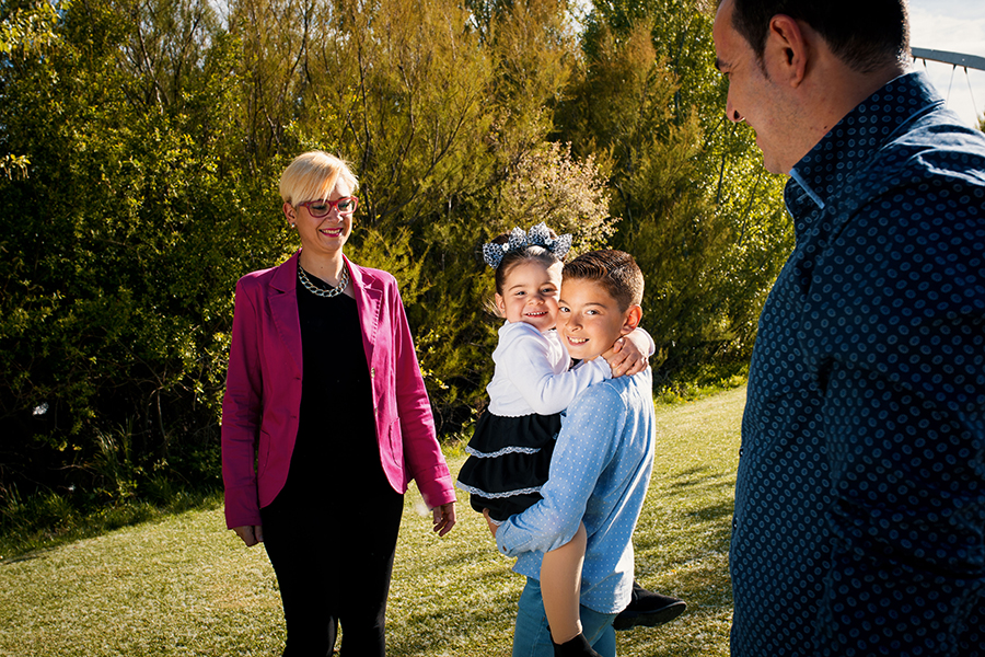 Reportajes en Zaragoza de familias felices
