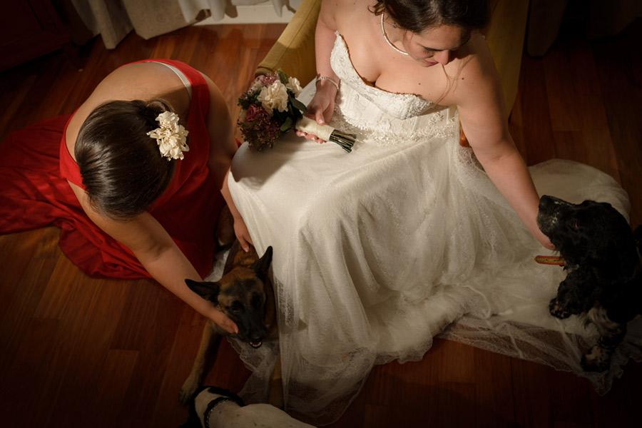 momentos antes de salir a la boda en Zaragoza de María